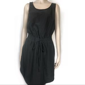 A new day Shady black front tie kneelength dress
